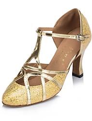 Damen Modern Glitzer Sandalen Absätze Sneaker Innen Farbaufsatz Stöckelabsatz Gold Silber 7,5 - 9,5 cm Maßfertigung