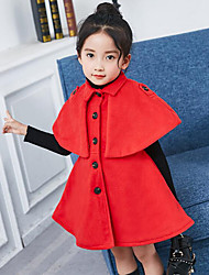 Girls' Solid Suit & Blazer,Polyester Winter Fall Half Sleeves Red Blushing Pink Yellow