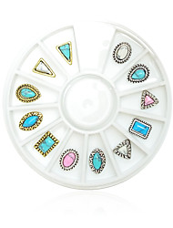 cheap -1pcs Nail Jewelry Metallic Geometric Classical Alabaster Stone Nail Art Design