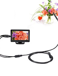 cheap -5.5mm Dia AV Endoscope 5V NTSC 1m Cable Night Vision Inspection Borescope Camera Snake Video Cam with 4.3 inch TFT Color Monitor