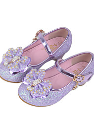 cheap -Girls' Shoes Synthetic Spring Fall Comfort Flats Crystal Beading Sequin Imitation Pearl Sparkling Glitter Hook & Loop for Wedding Casual