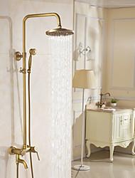 abordables -Robinet de douche Cuivre antique Set de centre Soupape céramique