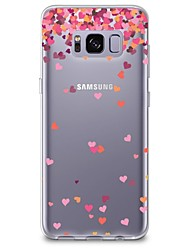 cheap -Case For Samsung Galaxy S8 Plus S8 Transparent Pattern Back Cover Heart Soft TPU for S8 S8 Plus S7 edge S7 S6 edge plus S6 edge S6 S6