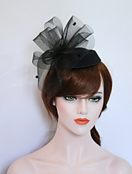 cheap -Gemstone & Crystal / Tulle / Flannelette Fascinators / Hats / Headpiece with Crystal / Feather 1 Wedding / Party / Evening / Event / Party Headpiece