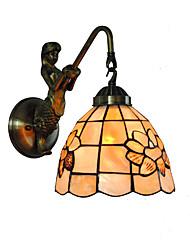 economico -diametro 18cm retro sirena tiffany luci di parete lucernario ombra soggiorno camera da letto camera da letto