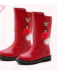 abordables -Chica Zapatos PU Invierno Confort / Botas de nieve Botas para Negro / Rojo / Borgoña