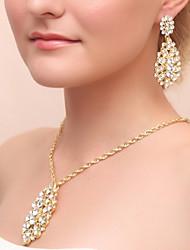 cheap -Women's Drop Earrings Necklace Rhinestone Wedding Party Alloy Drop Necklace Earrings