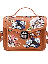 cheap -Women Bags PU Tote Embroidery for All Seasons Black Red Brown Khaki