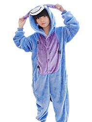 abordables -Enfant Pyjamas Kigurumi Âne Combinaison de Pyjamas Flanelle Bleu Cosplay Pour Garçons et filles Pyjamas Animale Dessin animé Fête / Célébration Les costumes
