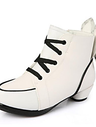 Women's Shoes Fleece Fall Winter Combat Boots Basic Pump Boots Booties/Ankle Boots For Casual White Black Red
