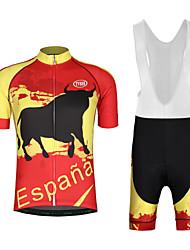 economico -Per uomo Manica corta Maglia con salopette corta da ciclismo - Bianco Nero Animali Bicicletta Set di vestiti