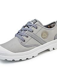 baratos -Homens sapatos Sarja Primavera / Outono Conforto Tênis Caminhada Verde Tropa / Vermelho / Azul