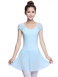 Danse classique Robes Femme Spectacle Coton Manche courte Taille moyenne Robe
