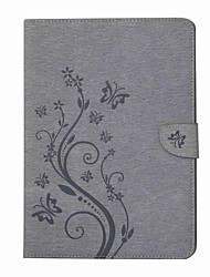 preiswerte -Hülle Für Samsung Galaxy Tab A 9.7 Ganzkörper-Gehäuse Tablet-Hüllen Schmetterling Blume Hart PU-Leder für