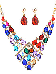 cheap -Women's Crystal Bohemian Crystal Alloy Drop Earrings Necklace For Party New Year Wedding Gifts
