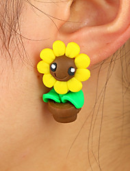 cheap -Women's Stud Earrings Animal Design Cute Style China Alloy Sunflower Flower Jewelry Yellow Daily Casual Costume Jewelry