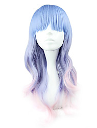 cheap -Lolita Wigs Sweet Lolita Blue Color Gradient Lolita Wig 55 CM Cosplay Wigs Patchwork Wig For