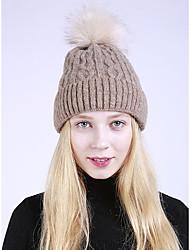 cheap -Women's Faux Fur Acrylic Floppy Hat,Hat Solid Autumn Winter Pure Color