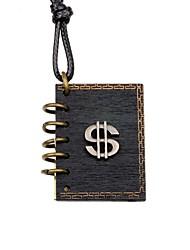 cheap -Men's Women's Locket Shape Personalized Handmade Pendant Necklace Wood Alloy Pendant Necklace Casual Date
