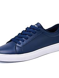 Homme Chaussures Polyuréthane Printemps Automne Confort Semelles Légères Basket Pour Décontracté Noir Bleu Noir/blanc Blanc/Bleu Blanc et