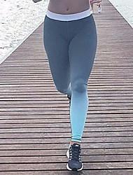 Damen Einfarbig Genähte Spitzen Bedruckt Legging