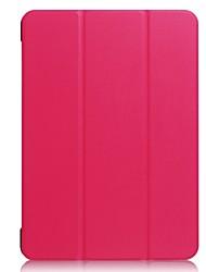 preiswerte -für case abdeckung stand durchscheinend origami voller körper fall einfarbig hart pu leder für lenovo tab4 10 plustb-x704f / tb-x304n