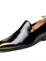 abordables -Homme Chaussures Cuir Verni Automne Chaussures formelles Oxfords Pour Soirée & Evénement Or Noir Argent Rouge