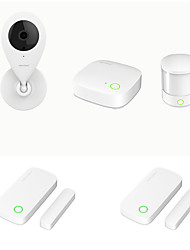 cheap -Orvibo Zigbee 5-in-1 Smart Security Kit Smart Home Minihub Motion Sensor Door Window Sensor and WiFi Monitoring Camera Remote Control App-supported
