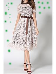 cheap -Women's Casual Chic & Modern Swing Dress - Patchwork, Modern Style