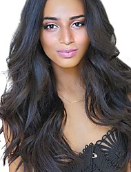 Women Synthetic Wig Capless Long Wavy Black African American Wig Middle Part Natural Wigs Costume Wig