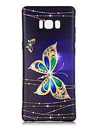 preiswerte -Hülle Für Muster Rückseitenabdeckung Schmetterling Weich TPU für Note 8 Note 5 Edge Note 5 Note 4 Note 3 Lite Note 3 Note 2 Note Edge Note