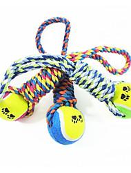 economico -Cane Giocattolo per cani Giocattoli per animali Giochi morbidi Palle da tennis Cotone Per animali domestici