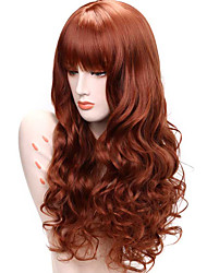 cheap -Women Synthetic Wig Lace Front Medium Length Long Curly Wavy Auburn Lolita Wig Party Wig Celebrity Wig Halloween Wig Carnival Wig Cosplay