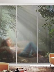 Недорогие -Оконная пленка и наклейки Украшение Пейзаж Ар деко ПВХ / винил Стикер на окна / Для гостиной