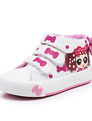 cheap -Girls' Shoes Canvas Spring / Fall Comfort Sneakers for Black / Dark Blue / Light Pink