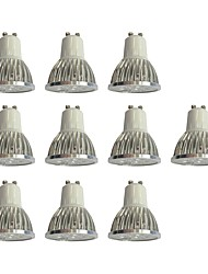 cheap -10pcs 4W 360lm GU10 LED Spotlight 4 LED Beads High Power LED Dimmable White 110-120V