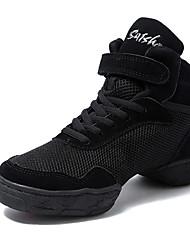 economico -Da uomo Sneakers da danza moderna Tulle Mezzepunte Quotidiano Tacco su misura Nero Personalizzabile