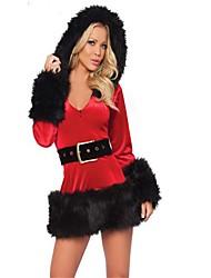 Costumes de père noël Tenus de Servante Mrs.Claus Costumes de Cosplay Articles pour Célébrer Noël Féminin Noël Carnaval Fête / Célébration