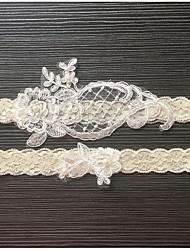 economico -accessori di cerimonia nuziale del merletto della perla del merletto della giarrettiera imitazione bella