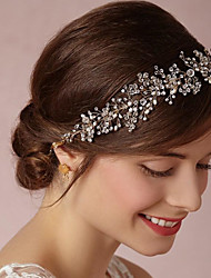 Imitation Pearl Alloy Tiaras Headbands Hair Tool Headpiece