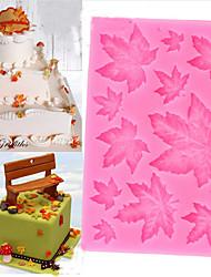 Недорогие -diy кленовый лист силиконовый торт выпечка плесень рождественская помада шоколадная конфета глиняная плесень