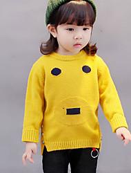 preiswerte -Mädchen Bluse Geometrisch Baumwolle Herbst Langärmelige Orange Grau Gelb