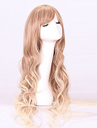 cheap -Women Synthetic Wig Capless Long Wavy Blonde With Bangs Cosplay Wig Costume Wig