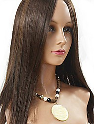 cheap -Human Hair Full Lace Wig Eurasian Hair Straight 130% Density Long Women's Human Hair Lace Wig
