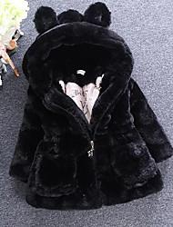 economico -Giubbino e cappotto Da ragazza Pelliccia sintetica Tipi di pellicce speciali Tinta unita Inverno Maniche lunghe