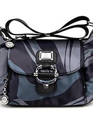 Women Bags All Seasons Oxford Cloth Shoulder Bag Zipper for Casual Purple Blue