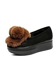 abordables -Femme Chaussures Cachemire Hiver Confort Mocassins et Chaussons+D6148 Invalide / Bout rond Invalide / pour Noir Marron