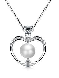 Недорогие -Жен. Сердце Роскошь Сердце Ожерелья с подвесками Цирконий Циркон Ожерелья с подвесками , Свадьба Для вечеринок