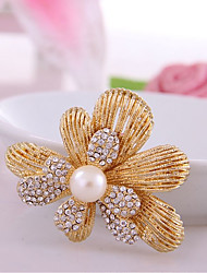 cheap -Women's Synthetic Diamond Brooches - Rhinestone Flower Classic, Fashion Brooch Gold For Birthday / Daily