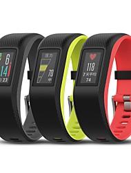 baratos -Garmin vivosport bracelete inteligente pulseira com base em ritmo cardíaco cronômetro gps atividade fitness tracker